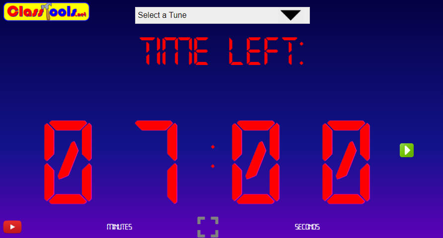 Classtools Countdown Timer